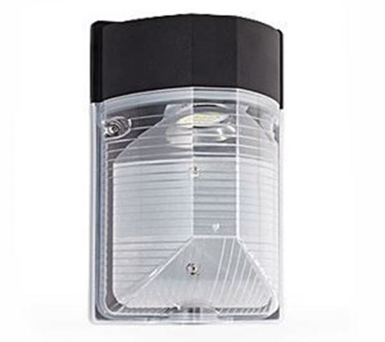 Picture of LED Outdoor Mini Wallpack 50MH Equiv With Photocell 4000K 120V 25W LC2 5YR (EQUIV TO 50MH)