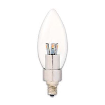 Picture of LED Bulbs Decorative Chandelier Teardrop 25W Equiv 2700K 3W CL CAN Dimmable