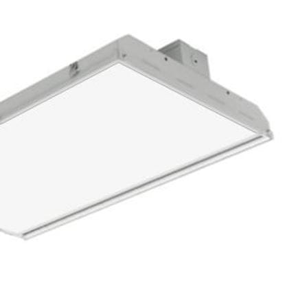 Picture of LED Indoor Highbay Flat 400MH Equiv. Fixture 1X4 223W 5000K Light Commercial 5YR