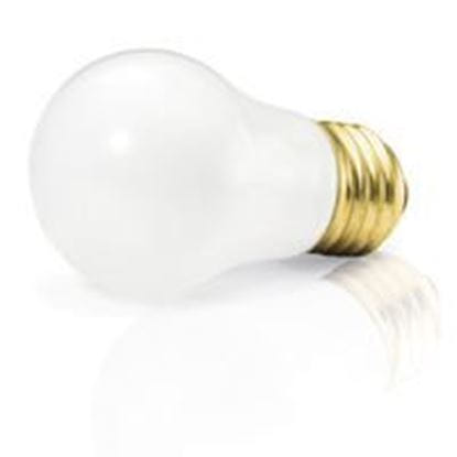 Picture of Light Bulbs Incandescents A15 40W REPLACEMENT Frost Medium Home Appliance Lamps 40A15 FR TEFLON APPL 12ML