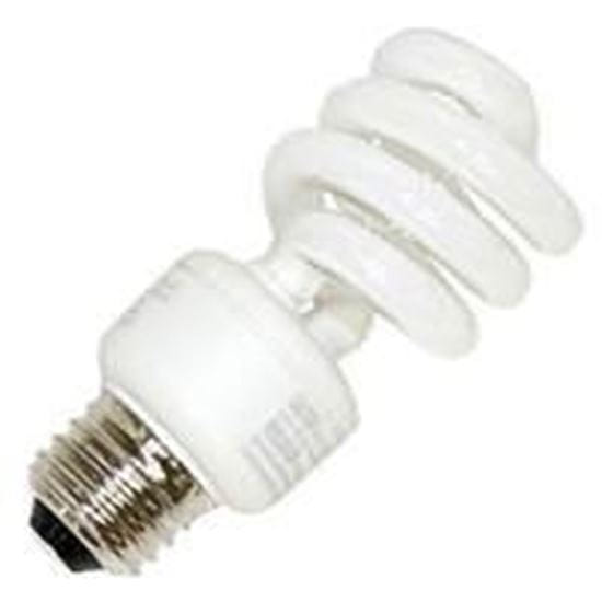 Picture of Light Bulbs Compact Fluorescents Bare Spiral 5 to 26 Watts - T2 13 medium 2700K 13W MINI LUMITWIST HG8227 24M