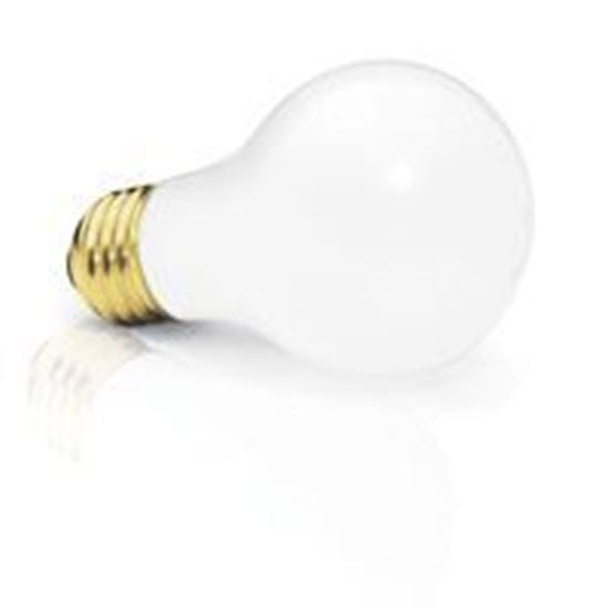 Picture of Light Bulbs Incandescents A19 100W REPLACEMENT Frost medium 100A19 FR 24MW (HG328 HEAVY DUTY)