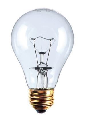 Picture of Light Bulbs Incandescents A21 60W REPLACEMENT Clear medium Traffic Signal Lamps 60A21 CL TS 17000HR 15MW