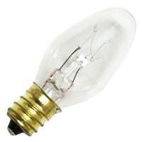 Picture of Light Bulbs Incandescents C7 7W REPLACEMENT Clear Candelabra Indicator Lamps 7C7 CL CAN 15MW