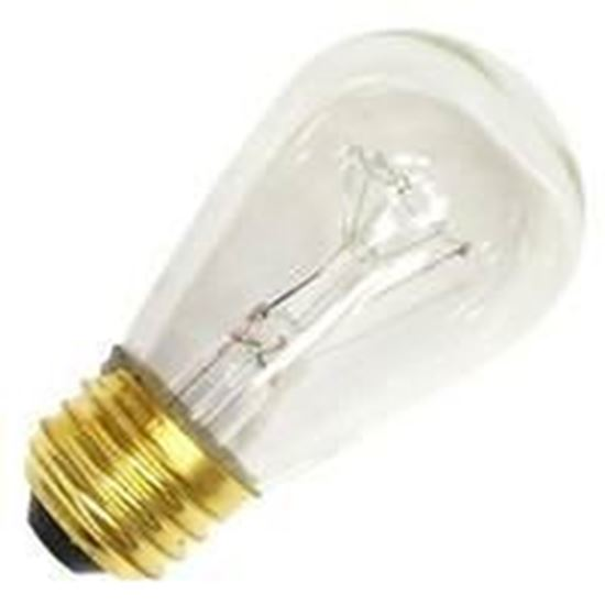 Picture of Light Bulbs Incandescents S14 11W REPLACEMENT Yellow medium Colored Lamps 11S14 YEL SIGN 15MW