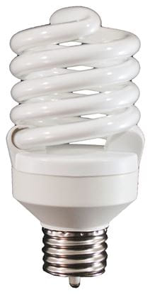 Picture of Light Bulbs Compact Fluorescents Bare Spiral 5 to 26 Watts - T2 23 medium 2700K 23W FULL TWIST HG8227 36M