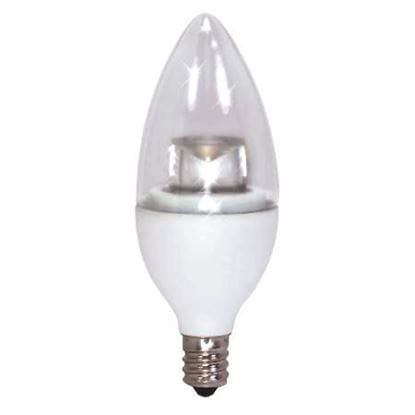 Picture of LED Bulbs Decorative Chandelier Teardrop 40W Equiv 2700K 3W TD11 HEARTHGLO Dimmable CAN CL 6YR (40W REPLACEMENT)