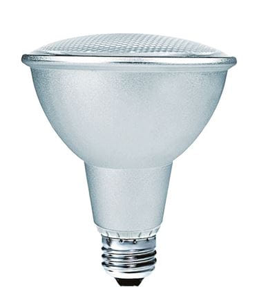 Picture of Light Bulbs Compact Fluorescents PAR Spiral 30 15 Watts Medium 3000K 15W PAR30 SR8235 24M