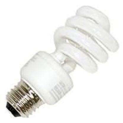 Picture of Light Bulbs Compact Fluorescents Safety Coated Spiral 13 to 40 Watts - T3 Medium 5000K 13W MINITWST AWX8650 SG 14M