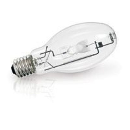 Picture of Light Bulbs High Intensity Discharge Metal Halide Pulse Start 320W Mogul - E CLEAR Horizontal to Base UP Burn Position M154 132 320 HBU PS 50M