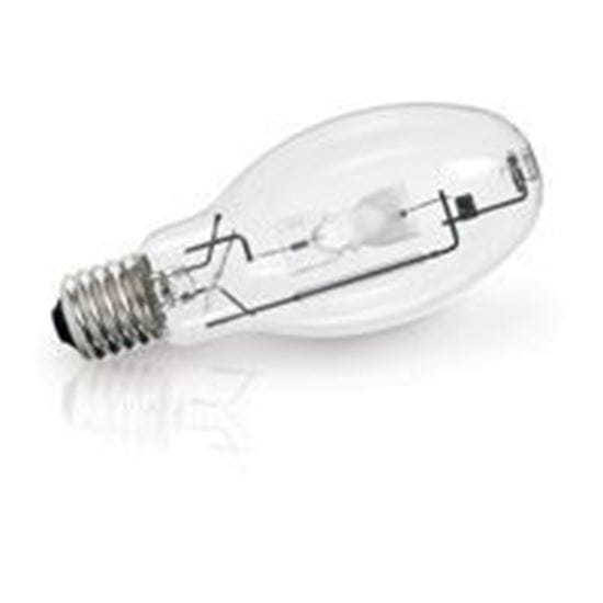 Picture of Light Bulbs High Intensity Discharge Metal Halide - Probe Start 400W Mogul E CLEAR Universal Burn M59 U ENCLOSED-RATED ED28-SHAPE 8-5/16IN LONG - 36 MONTH