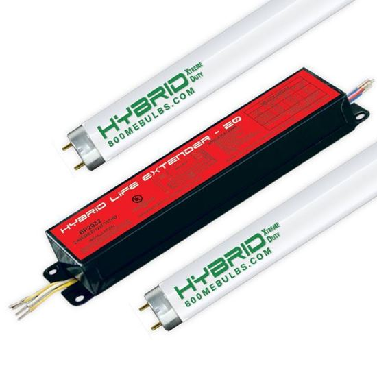 Picture of Fluorescent T8 Ballast and Lamp Kit 2 F28T8 Program Start 28W XB 20YR HYBRID