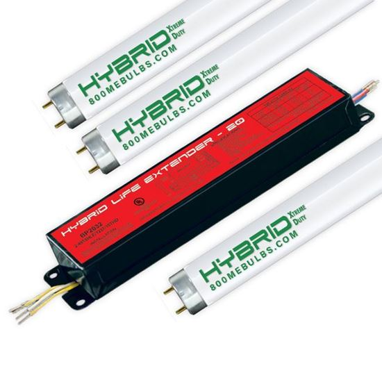 Picture of Fluorescent T8 Ballast and Lamp Kit 3 F32T8 Program Start 32W VLX HYBRID 20 YR