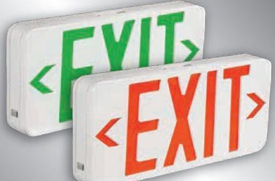 Picture of Exit Signs LED GREEN 1 or 2 SIDED with BATTERY BACKUP