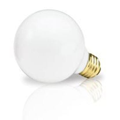 Picture of Light Bulbs Incandescents Decoratives G25 100 Watt Replacement White medium 100G25 WHT 12MW