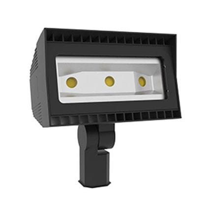 Picture of LED Outdoor Area Floods 2-3/8 INCH TENON SLIPFITTER Mount 80W FLOOD 4K 100-277V non-dimmable 7YR
