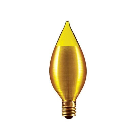 Picture of Light Bulbs Incandescents Decoratives C15 40 Watt Replacement Frost Medium 40C15 AMBER 12ML