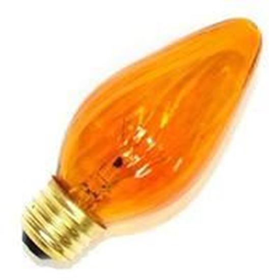 Picture of Light Bulbs Incandescents Decoratives F10 15 Watt Replacement Amber Candelabra 15F10 AMB CAN 12MW