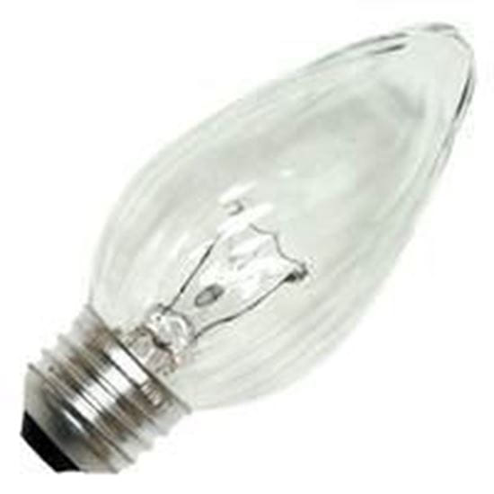 Picture of Light Bulbs Incandescents Decoratives F10 25 Watt Replacement White Candelabra 25F10 WHT CAN 12MW