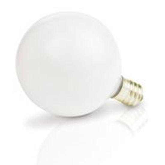 Picture of Light Bulbs Incandescents Decoratives G 16 1 2 15 Watt Replacement White Candelabra 15G16 WHT CAN 12MW