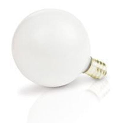 Picture of Light Bulbs Incandescents Decoratives G 16 1 2 25 Watt Replacement White Candelabra 25G16 WHT CAN 12MW