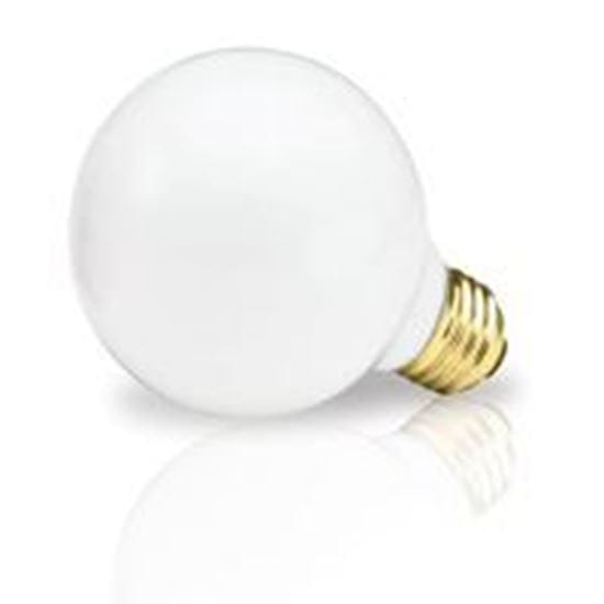 Picture of Light Bulbs Incandescents Decoratives G25 25 Watt Replacement White medium 25G25 WHT 12MW