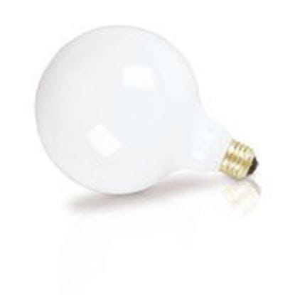 Picture of Light Bulbs Incandescents Decoratives G40 100 Watt Replacement White medium 100G40 WHT 12MW