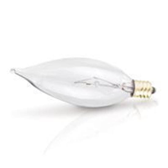 Picture of Light Bulbs Incandescents Decoratives TD10 40 Watt Replacement Clear Candelabra 40FT8 CL CAN KR 15ML
