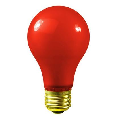 Picture of Light Bulbs Incandescents Colored A19 40W Red Medium 40A19 12ML