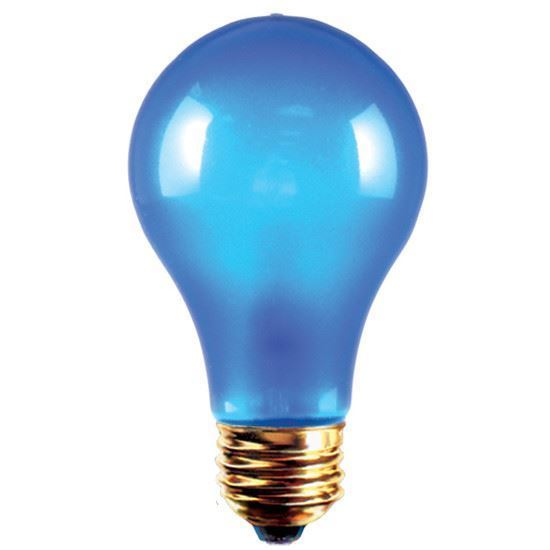 Picture of Light Bulbs Incandescents Colored A19 100W Blue Medium 100A19 BLU 12ML