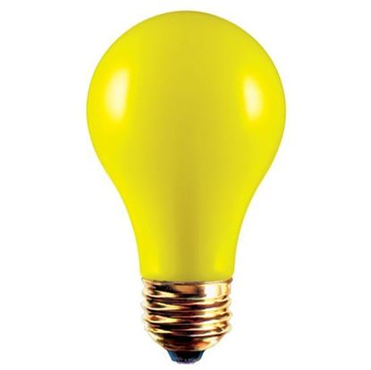 Picture of Light Bulbs Incandescents Colored A19 100W Yellow Medium 100A19 YEL 12ML