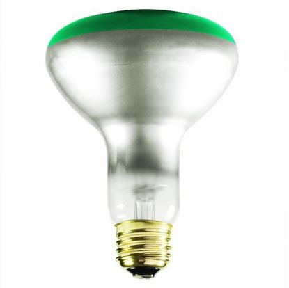 Picture of Light Bulbs Incandescents BR30 65W Green Medium 65BR30 SP GRN 15ML