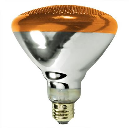 Picture of Light Bulbs Incandescents PAR38 100W Amber Medium 100PAR38 SP AM 12MW