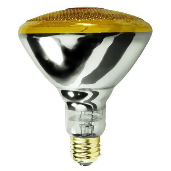 Picture of Light Bulbs Incandescents PAR38 100W Yellow Medium 100PAR38 SP YE 12MW
