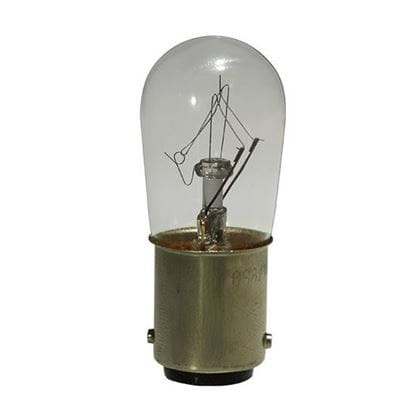 Picture of Light Bulbs Incandescents S6 6W REPLACEMENT Clear Double Contact Bayonet Indicator Lamps 6S6 CL DCB 24MW