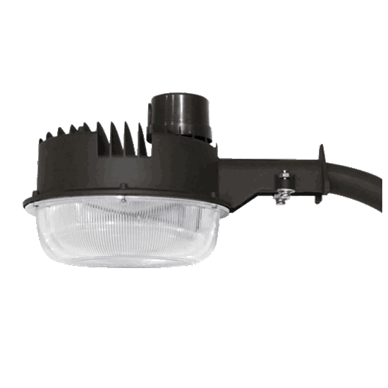 Picture of LED 45w DUSK-TO-DAWN 4000K For Wall or Pole Mount, includes Photocell and Mounting Arm 120-277V 7YR