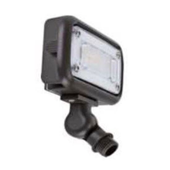 """Picture of LED Outdoor Area Floods 1/2"""" NPT Swivel Mount 15W 4K MINI FLOOD 120-277V non-dimmable 7yr"""
