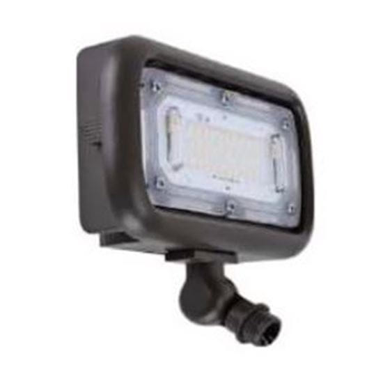 "Picture of Area Floods 1/2"" NPT Swivel Mount 45W 4K MINI FLOOD 120-277V non-dimmable 7yr"