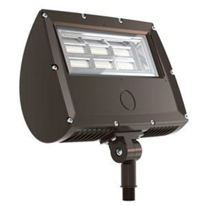 """Picture of LED Outdoor Area Floods 1/2"""" NPT Swivel Mount 70W FLOOD 4K 120-277V non-dimmable 5yr"""