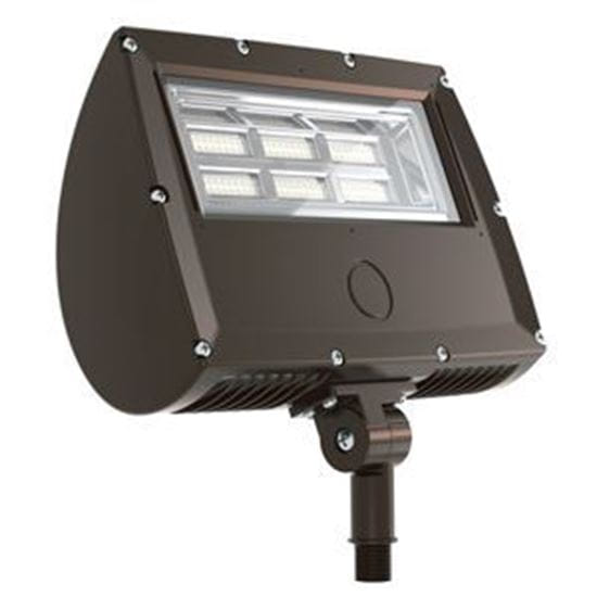 "Picture of LED Outdoor Area Floods 1/2"" NPT Swivel Mount 70W FLOOD 4K 120-277V non-dimmable 5yr"